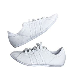Adidas All White Canvas Shoes Woman's Size 7.5